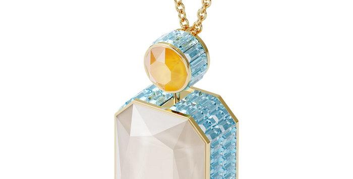 Swarovski smykke Orbita necklace Octagon cut crystal, Multicolored, Gold-tone