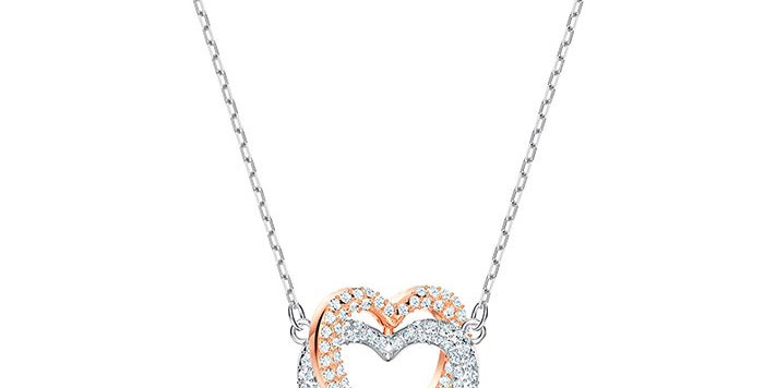 Smykke Swarovski Infinity necklace, Heart, White, Mixed metal finish