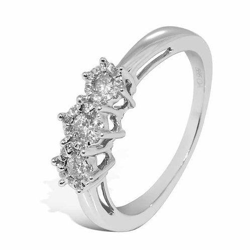 Diamantring forlovelsesring Azur 0,29 ct W-Si i 14kt gull