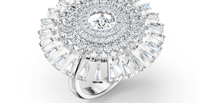 Swarovski ring  Sparkling Dance Dial Up, hvitt