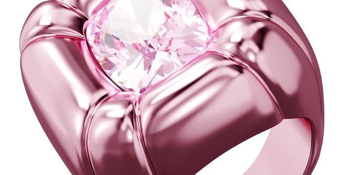 Swarovski Dulcis cocktail ring Pink