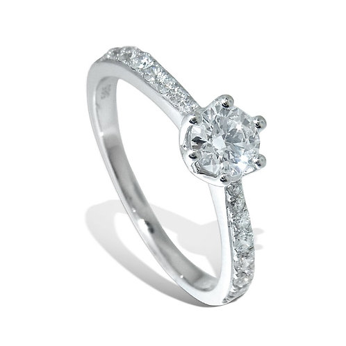 Diamantring forlovelsesring Azur 0,54 ct W-Si i 14kt gull