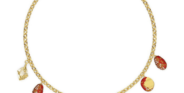 Swarovski collier The Elements Necklace, Red, Mixed metal finish