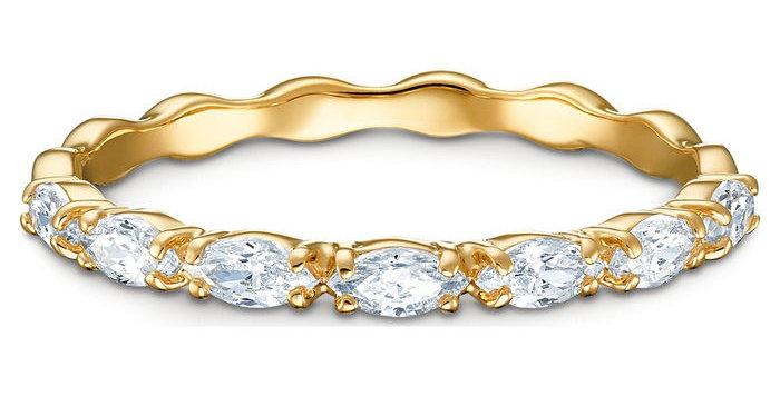 Swarovski ring Vittore Marquise, gult