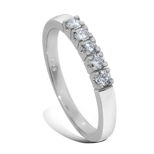 Diamantring forlovelsesring Iselin 5x0,05 ct i 14kt gull