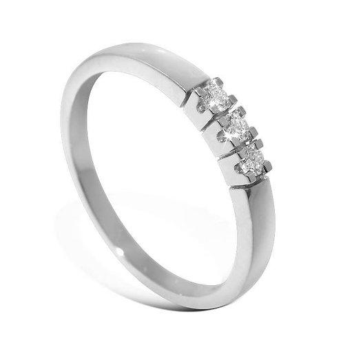 Diamantring forlovelsesring Iselin 3x0,03 ct i 14kt gull