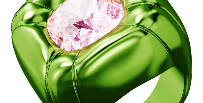 Swarovski Dulcis cocktail ring Green