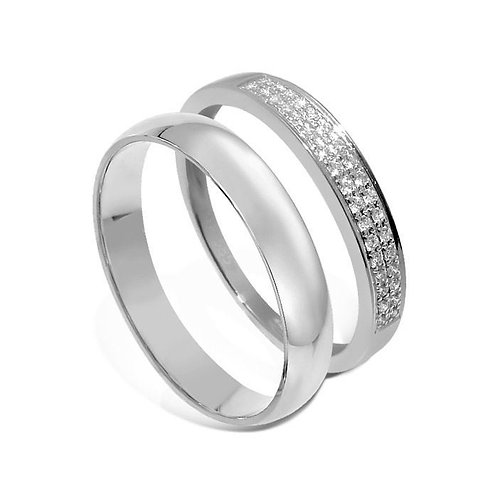 Forlovelsesringer diamantring i hvitt gull 14 kt, 4 mm OREST