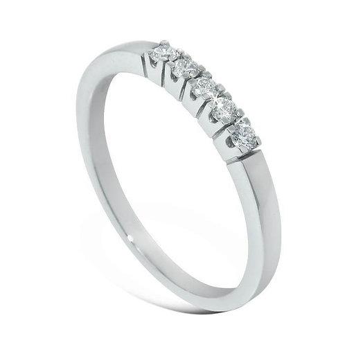 Diamantring forlovelsesring Iselin 5x0,03 ct i 14kt gull