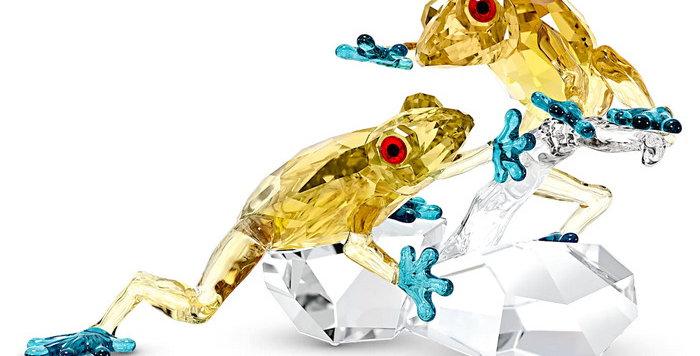 Swarovski figur Crystal Paradise Frogs