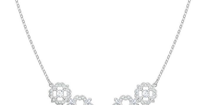 Swarovski collier Sparkling Dance Flower, hvitt