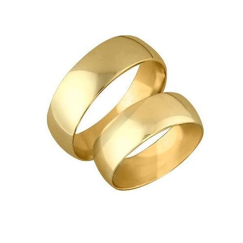 Forlovelsesringer i gult gull 14 kt, 6 mm. OREST