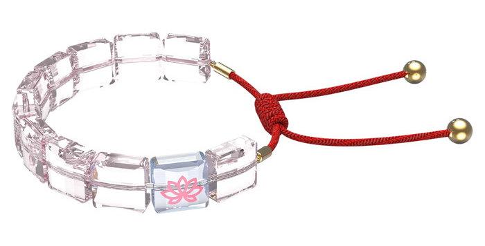Swarovski armbånd Letra bracelet Lotus, Pink, Gold-tone plated