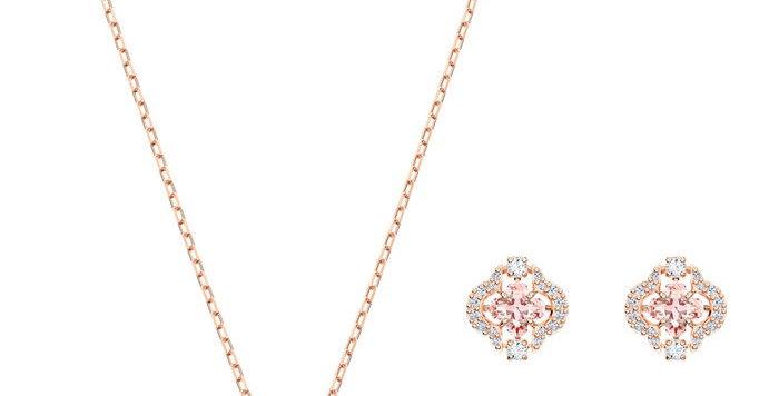 Swarovski smykkesett Sparkling Dance, rose