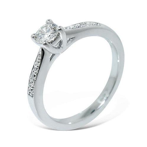 Diamantring forlovelsesring Azur 0,30 ct W-Si i 14kt gull