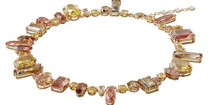 Swarovski smykke Gema necklace Multicolored, Gold-tone plated