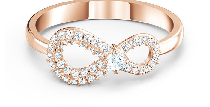 Swarovski ring Infinity, rose