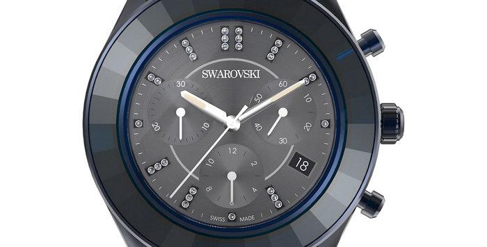 Swarovski klokke Octea Lux Sport watch Metal bracelet, Blue PVD