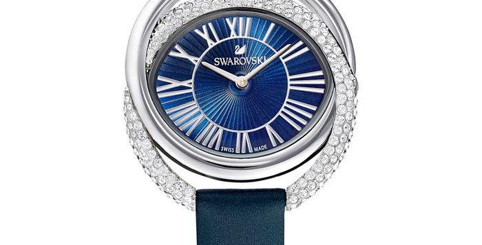 Swarovski klokke Duo, blå