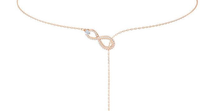 Swarovski smykke Infinity Y, hvitt
