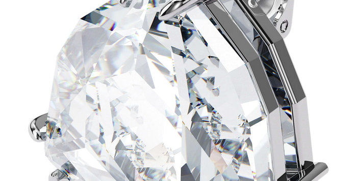 Swarovski øredobber Mesmera clip earring Single, Triangle cut crystal, White