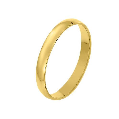 Giftering til herre i gult gull 14kt, 3 mm. OREST modell 167