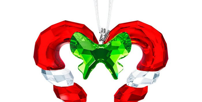 Swarovski figurer Candy Cane Heart Ornament
