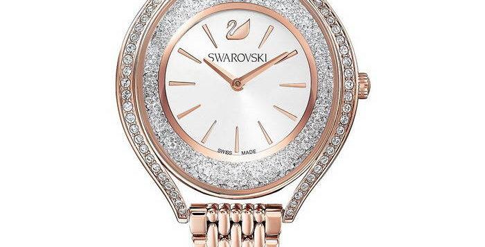 Swarovski klokke Crystalline Aura, rose gold
