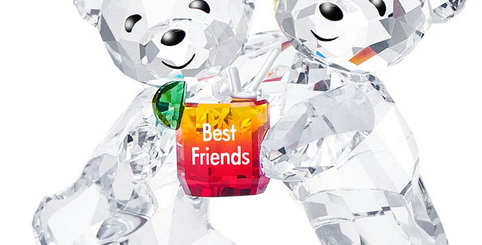 Swarovski figurer Kris Bear - Best Friends