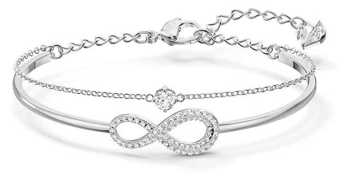Swarovski armbånd Infinity Chain Crystal, blank