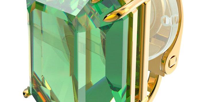 Swarovski øredobber Millenia clip earring Single, green, gold-tone plated