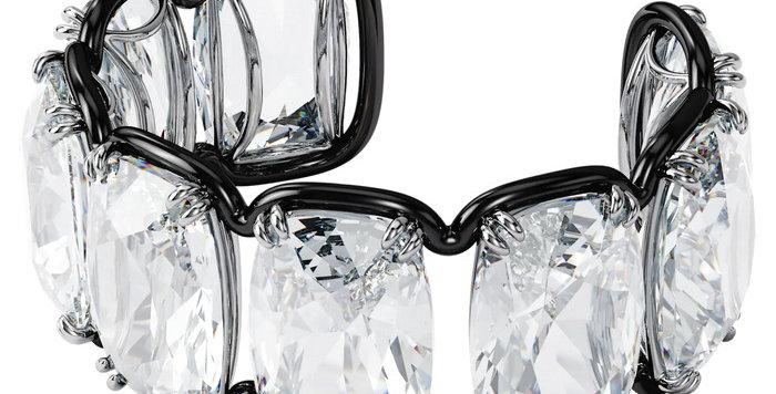 Swarovski armbånd Harmonia cuff Oversized floating crystal, white