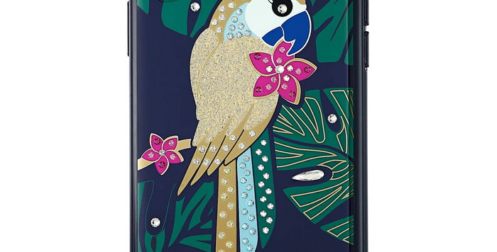 Swarovski  Iphone X-XS deksel Tropical Parrot, mørk