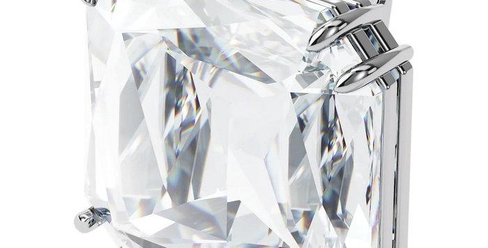 Swarovski øredobber Mesmera clip earring Single, Square cut crystal, white