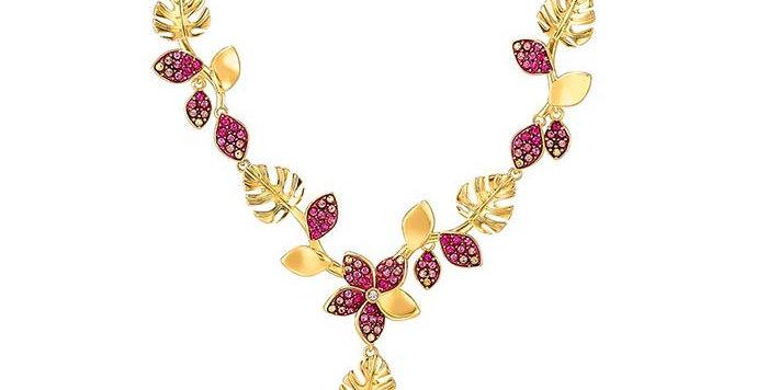 Swarovski smykke Tropical Flower, pink