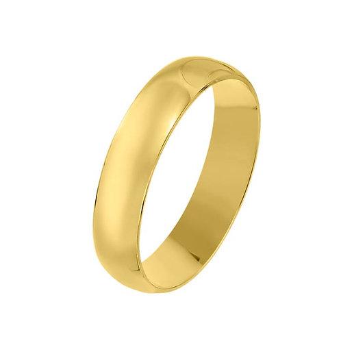 Giftering til herre i gult gull 14kt, 5 mm. OREST modell 167