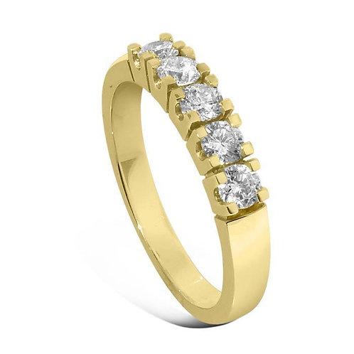 Diamantring forlovelsesring Iselin 5x0,1 ct i 14kt gull