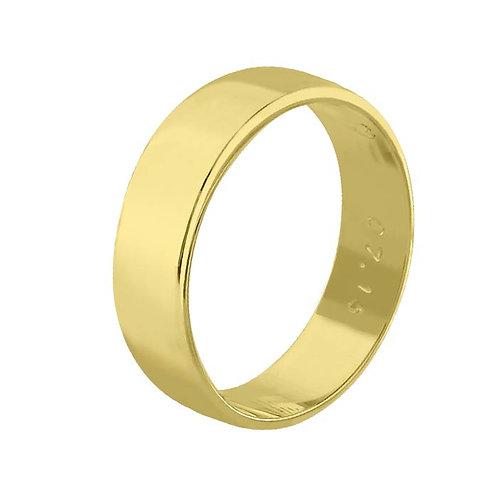 Giftering til herre i gult gull 14kt, 6 mm. OREST modell 115