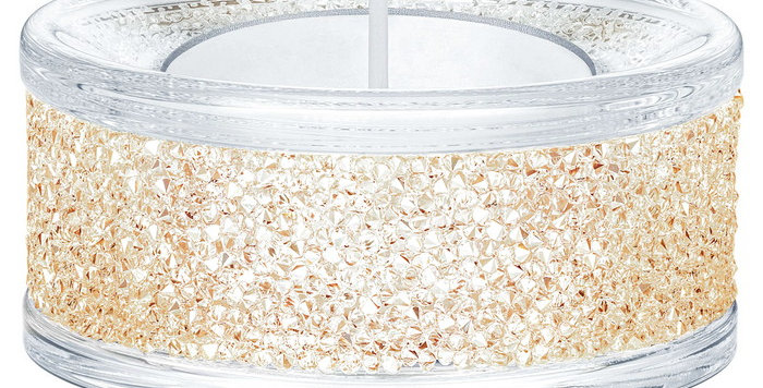 Swarovski Shimmer Tea Light Holders, gult