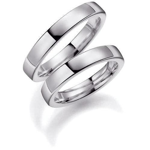 Forlovelsesringer i sølv, 4 mm/2,4 mm fra Espeland