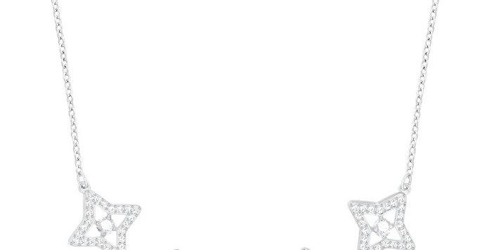 Swarovski collier Sparkling Dance Star, hvitt