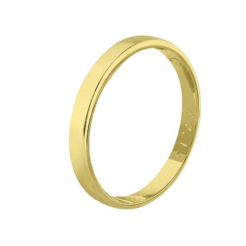 Giftering til herre i gult gull 14kt, 3 mm. OREST modell 115
