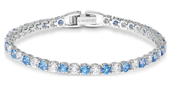 Swarovski armbånd Tennis Deluxe, blå