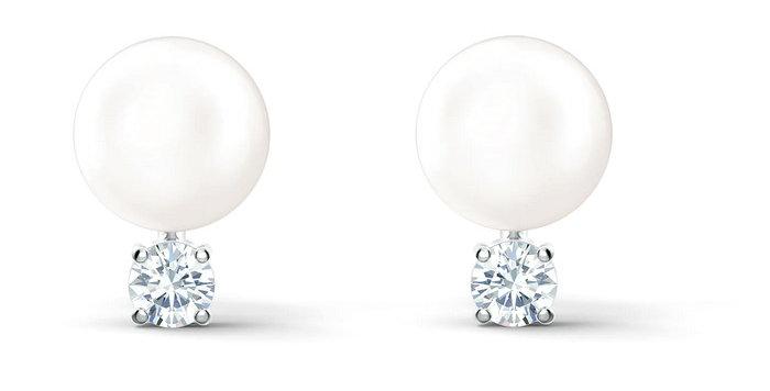 Swarovski øredobber Treasure Pearl, hvitt