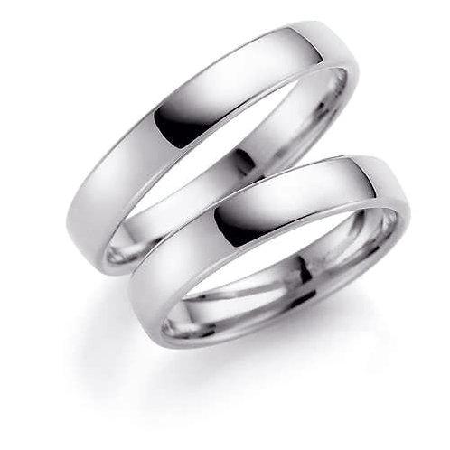 Forlovelsesringer i sølv, 4 mm/1,5 mm fra Espeland