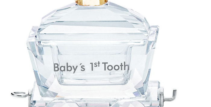 Swarovski figurer Babys 1st Tooth Wagon
