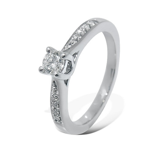 Diamantring forlovelsesring Azur 0,22 ct W-Si i 9kt gull