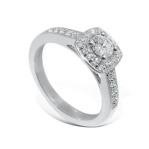 Diamantring forlovelsesring Azur 0,39 ct W-Si i 14kt gull