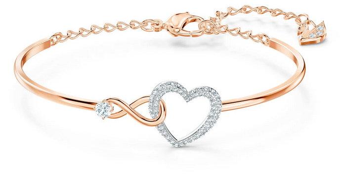 Swarovski armbånd Infinity Heart, rose