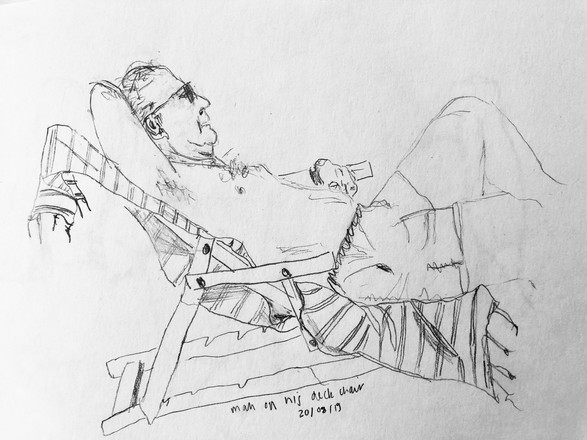 Man in his deck chair